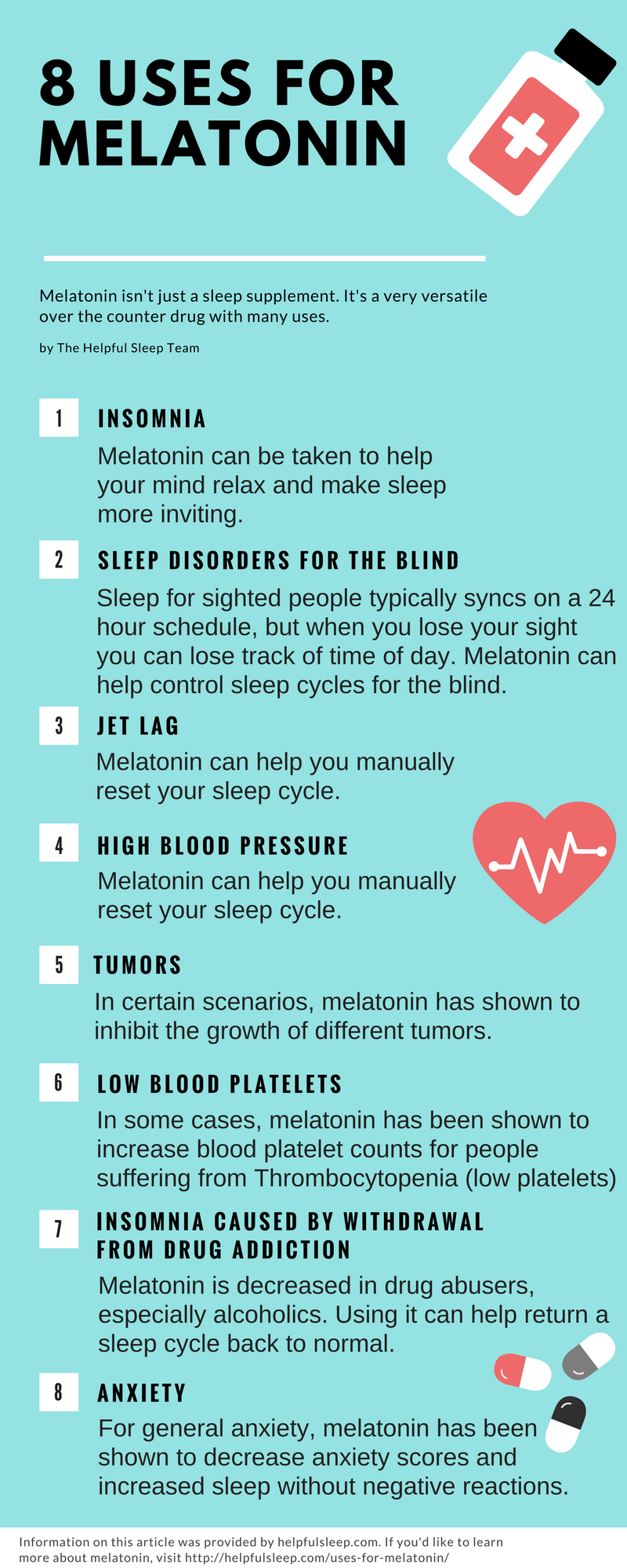 8 USES FOR MELATONIN